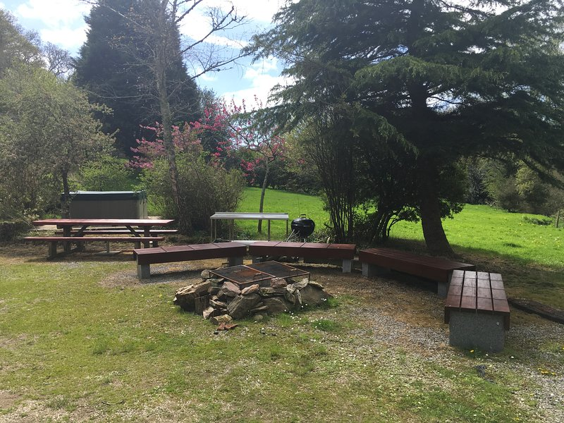Guest barbecue and chill out area by the farm house