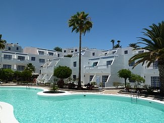 The apartment is 1st floor overlooking the communal pool.