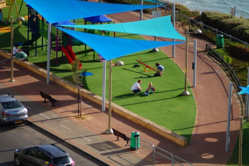 View of children's play park from the balcony.