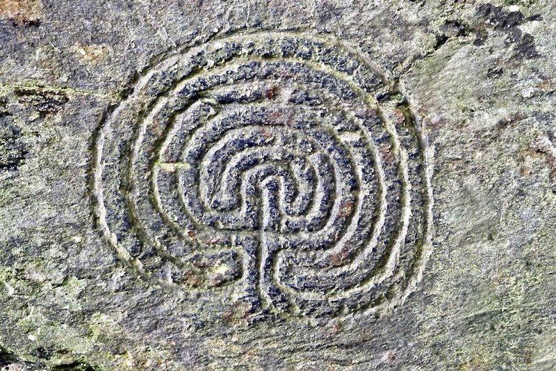 Rock carving at Rocky Valley, potentially 4000 years old