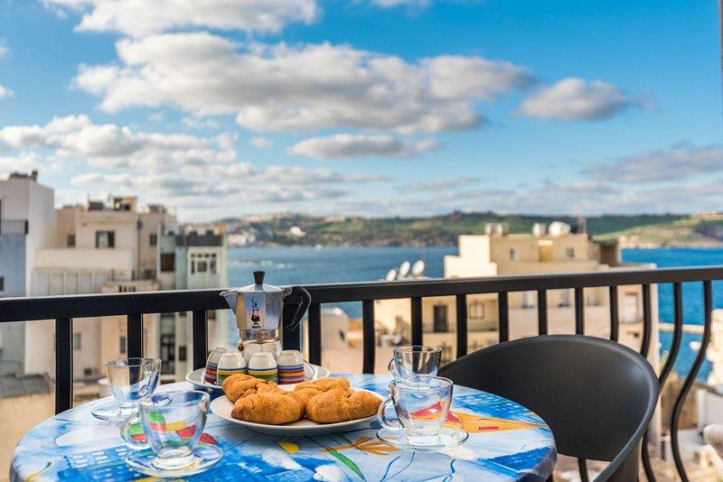 Breakfast from Balcony