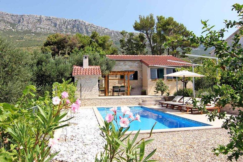 villa and pool views