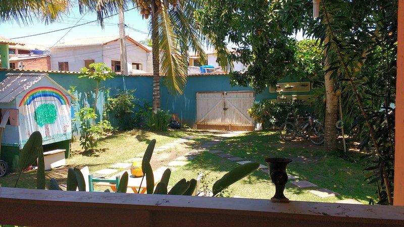 Gateway to the house! Cool backyard!