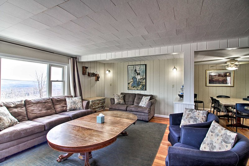 Up to 12 guests will find accommodations throughout this vacation rental.