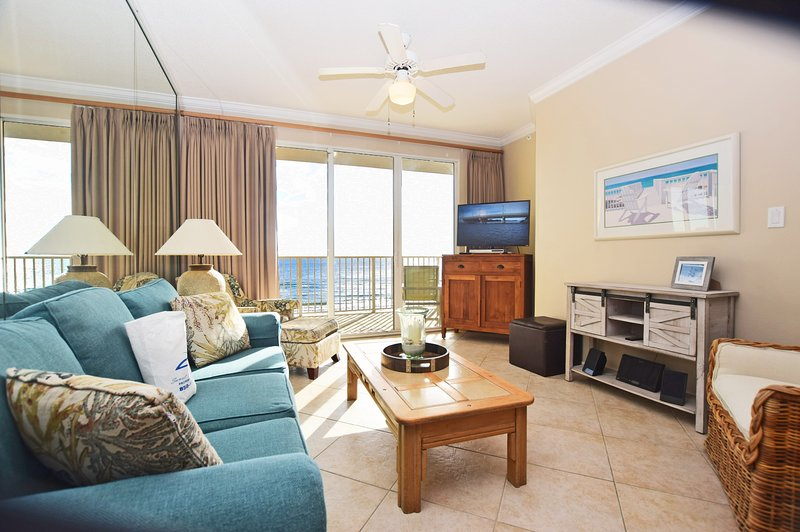 Living Room Gulf Dunes 609 Fort Walton Beach Okaloosa Island Vacation Rentals