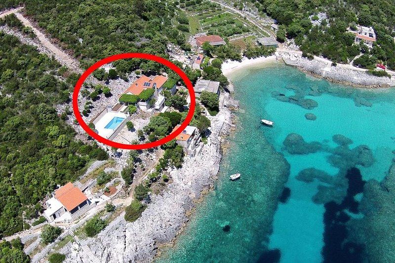 Two bedroom apartment Cove Rasohatica, Korčula (A-9699-a), holiday rental in Zrnovo