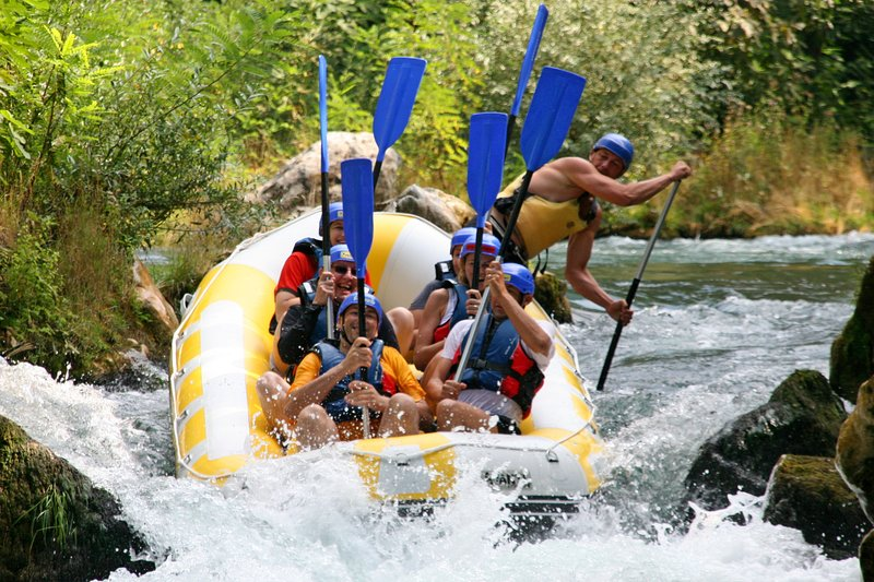 Rafting on Cetina river, only 8 km far from villa, this is a great day adventure