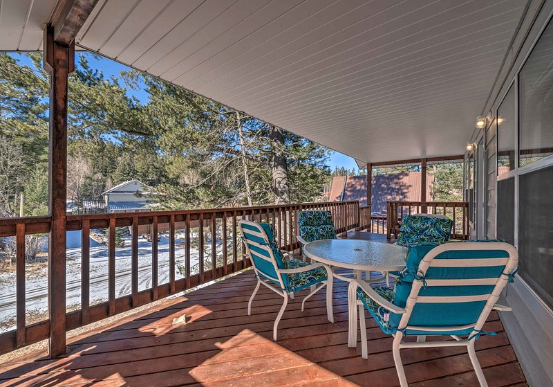 Enjoy the mountain air on your private covered deck of this second-story unit.
