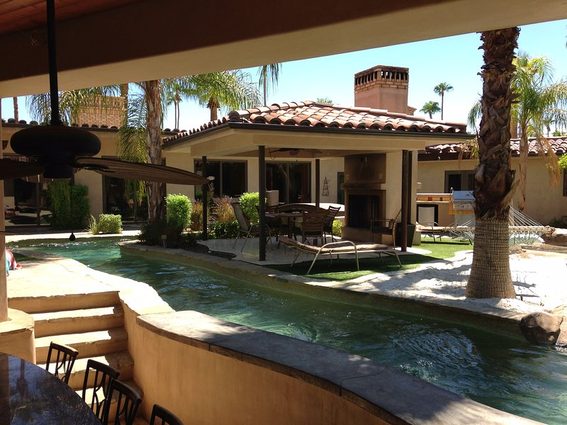 Warm Sands Estate with Moving River!, holiday rental in Palm Springs
