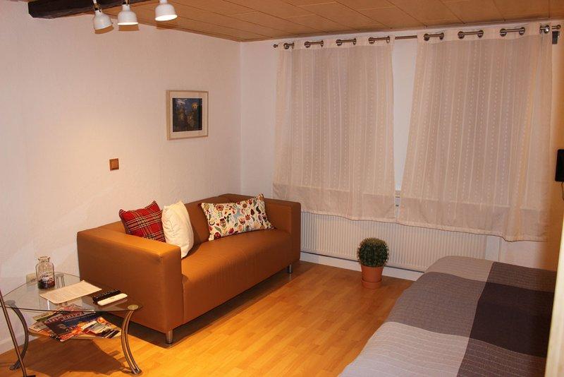 Ruhige, naturnahe 34qm-Wohnung in Fachwerkhaus, aluguéis de temporada em Niestetal