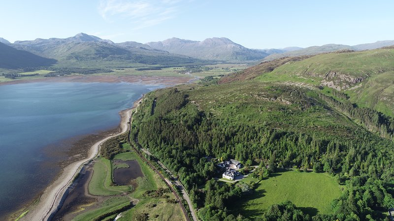 Loch Carron and Attadale House and Gardens. Free to visit gardens while staying here.