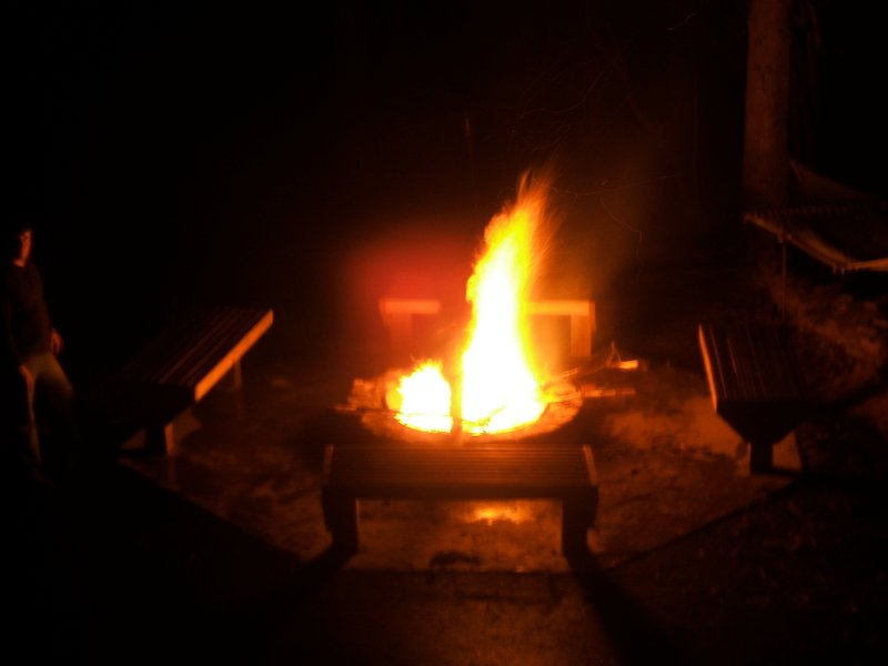 Gather around and enjoy a large fire pit