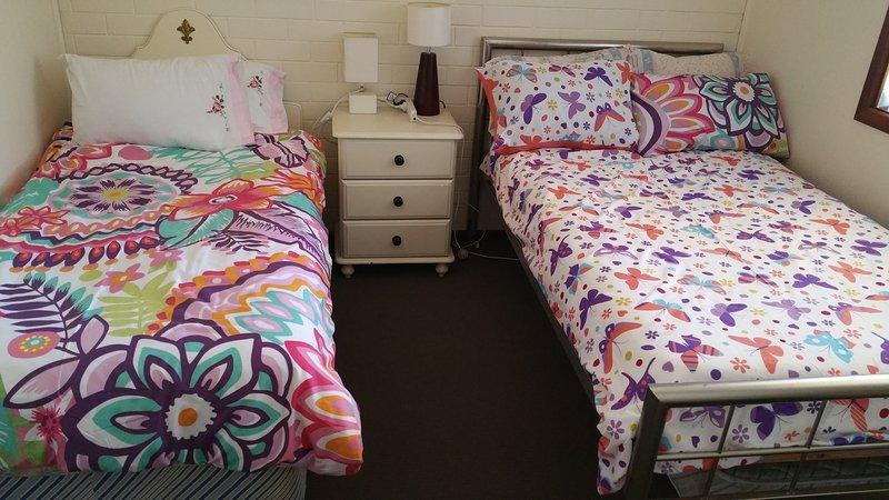 Escolha de camas para ambos os quartos.