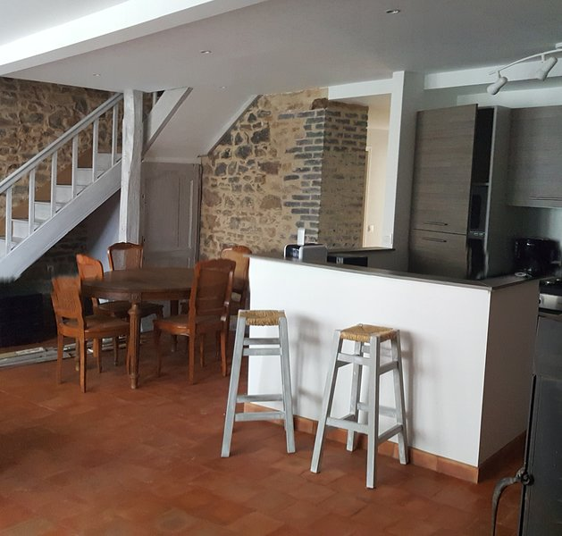 Amazing house with garden & terrace, holiday rental in Condat-sur-Ganaveix