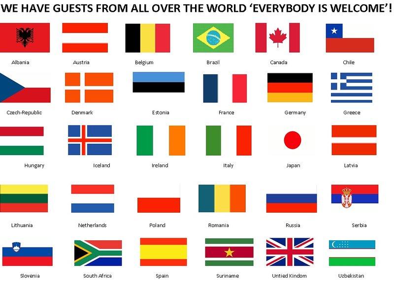 We hebben gasten van over de hele wereld. 'Iedereen is welkom'!
