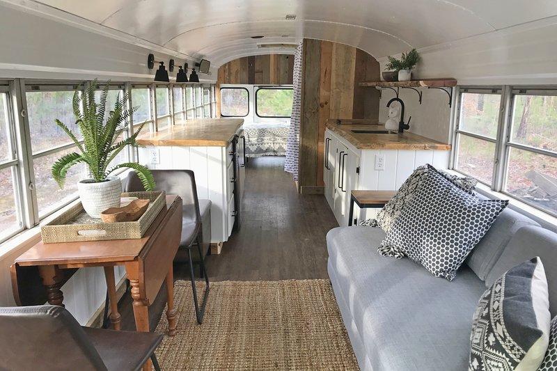 Skoolie'- The Emerald Gypsy - school bus conversion UPDATED