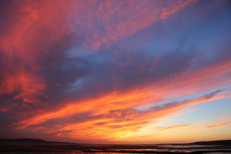 Evening Sunset across the bay