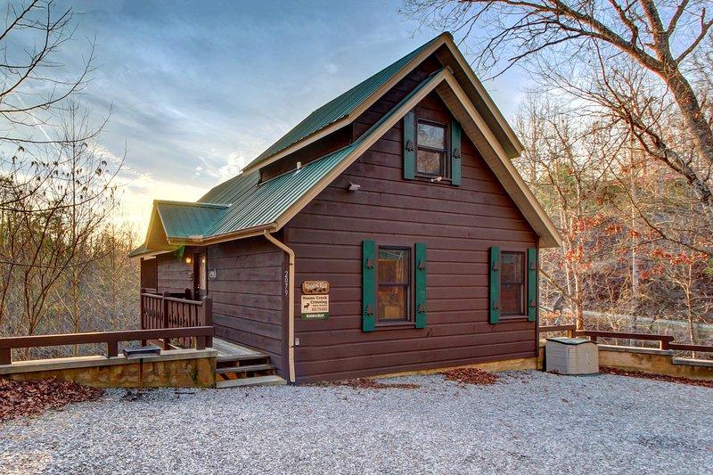 Cozy, dog-friendly cabin w/ private hot tub - great romantic