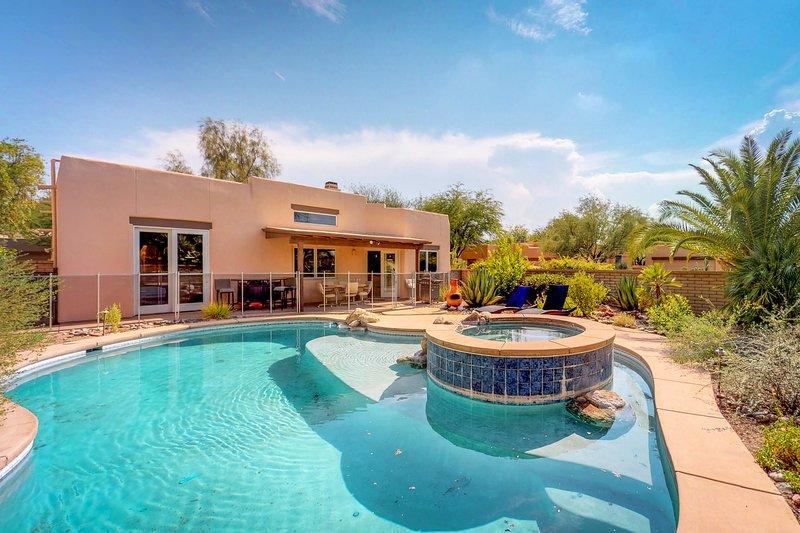 Desert oasis w/updated amenities furnished patio pool u0026 hot tub & NEW LISTING! Desert oasis w/updated amenities furnished patio pool ...