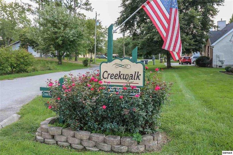 Entrée des chalets de location Creekwalk