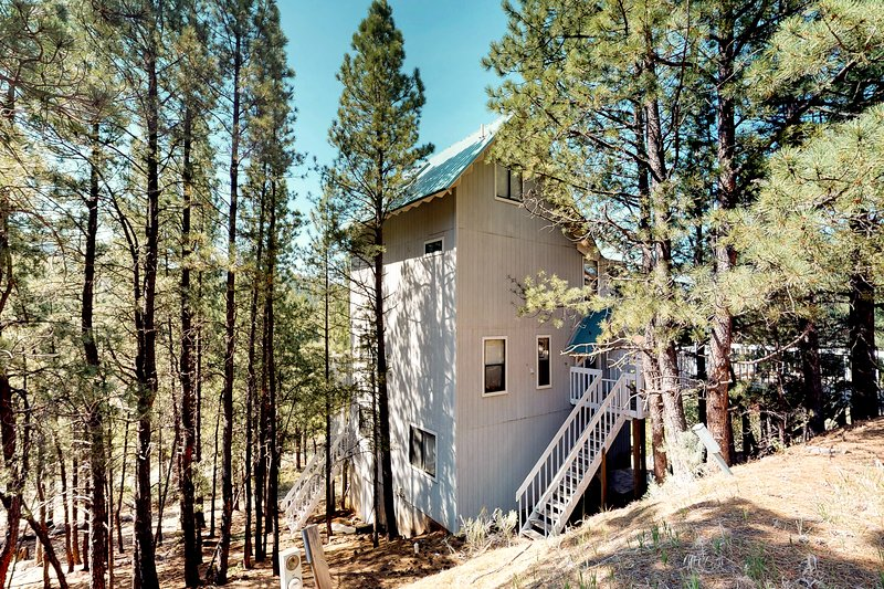 Comfortable & secluded home w/full kitchen, wood stoves & decks, holiday rental in Angel Fire