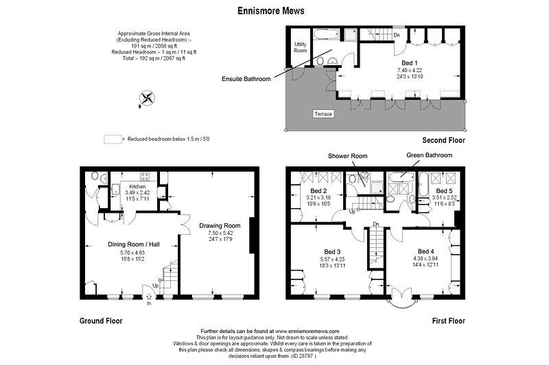 Floorplan showing the layout across floors