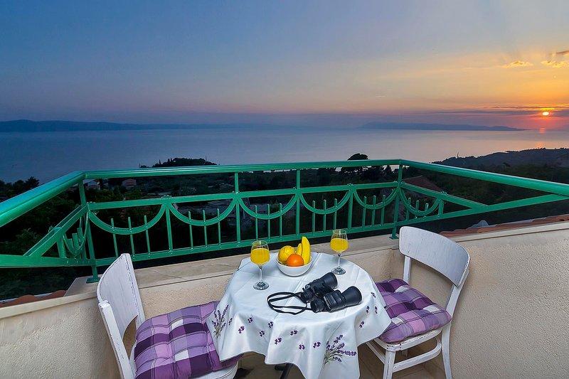Beautiful Dalmatian house with pool and sea view, alquiler de vacaciones en Podgora