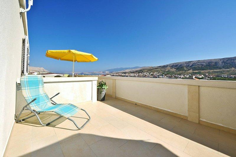 Apartment  Bi-PI , No3,   island Pag, Croatia, holiday rental in Pag