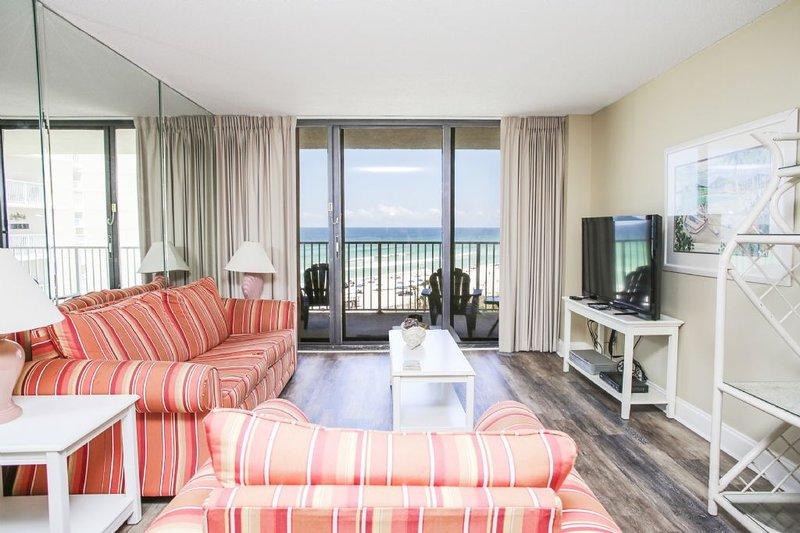Área de estar con vistas al golfo