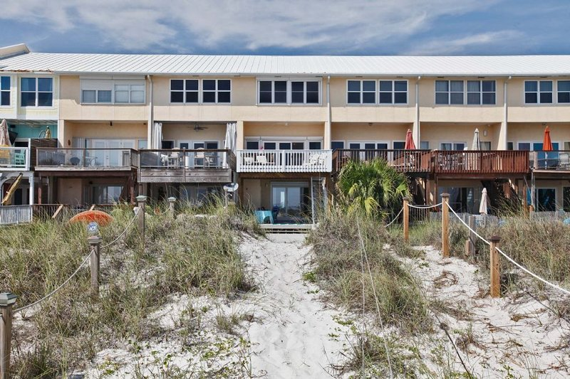 View from the Beach of Beachside West 7 Townhome
