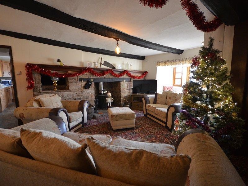 Muy bien decorado para navidad