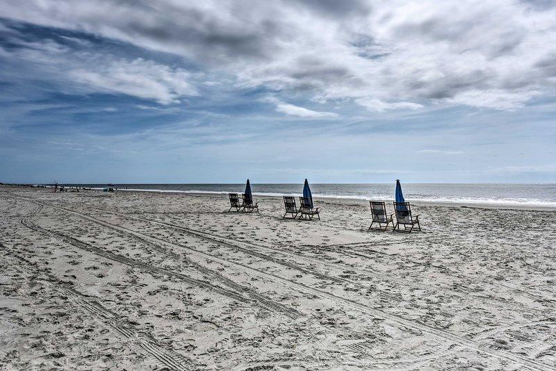 La struttura per le vacanze offre l'accesso diretto alla spiaggia.