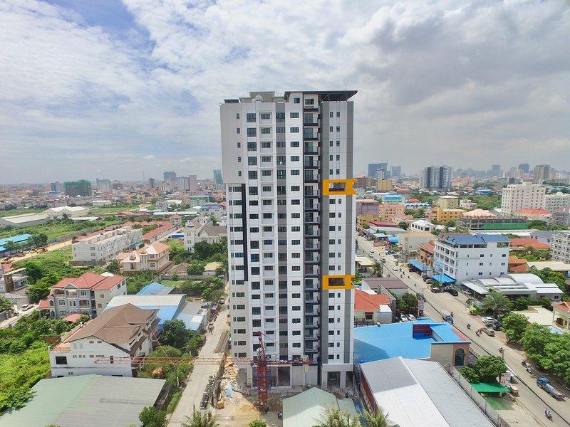2 Bedrooms Condo Near Super Store, AEON 2, Makro $35/night, aluguéis de temporada em Phnom Penh
