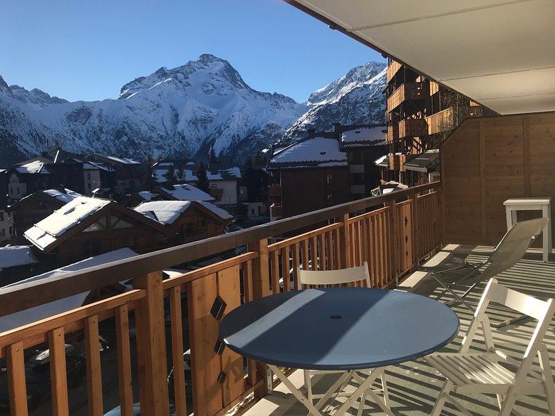 Terrasse avec vue imprenable sur le massif de la Muzelle!