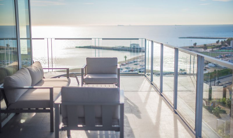 Sea and City View Terrace Apartment with private terrace - B502, vacation rental in Barcelona