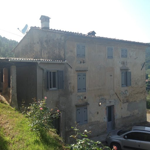 While standing in the olive groves, one notices the rusticity of the Casa remains on the exterior.