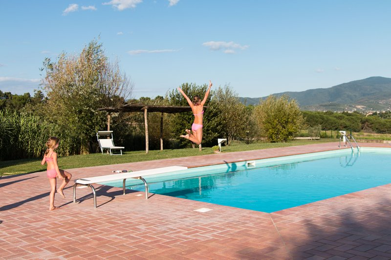Lovely apartment in farmhouse, private pool, beautiful garden, quiet position, holiday rental in Castiglion Fiorentino