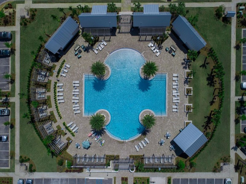 Ariel View of the Community Pool