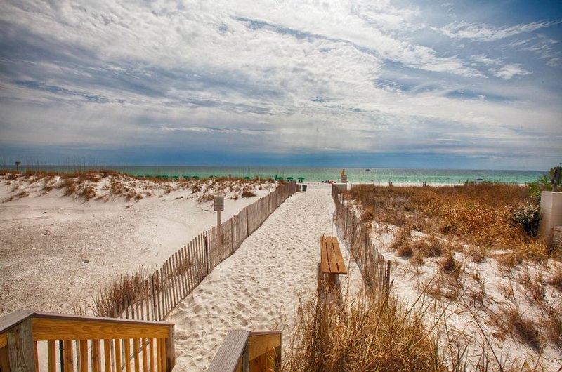 The Beachfront of Pelican Beach Resort