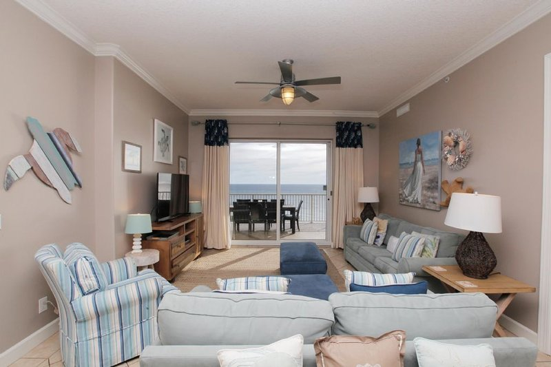 Ocean Ritz Condo 2103 Living Area w/ Gulf View