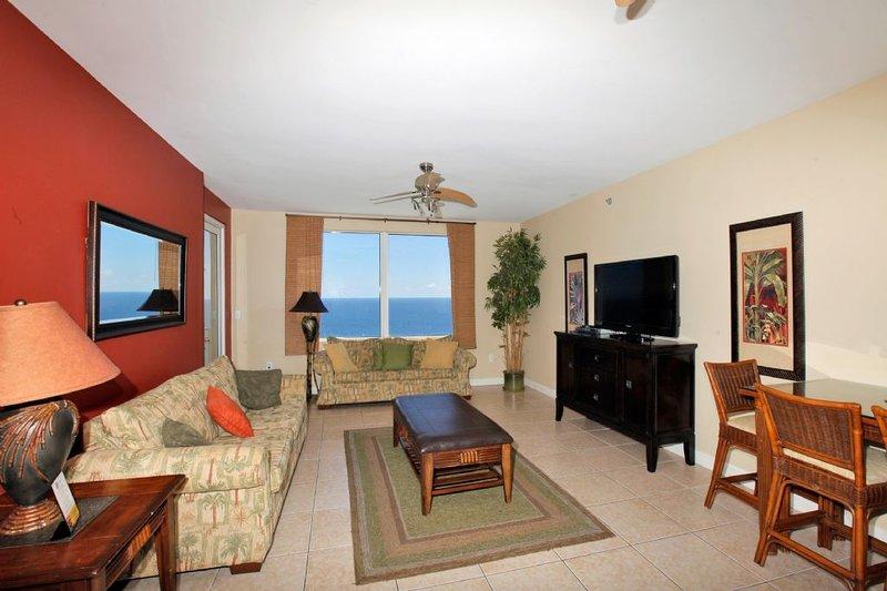 Sala de estar con vistas al golfo