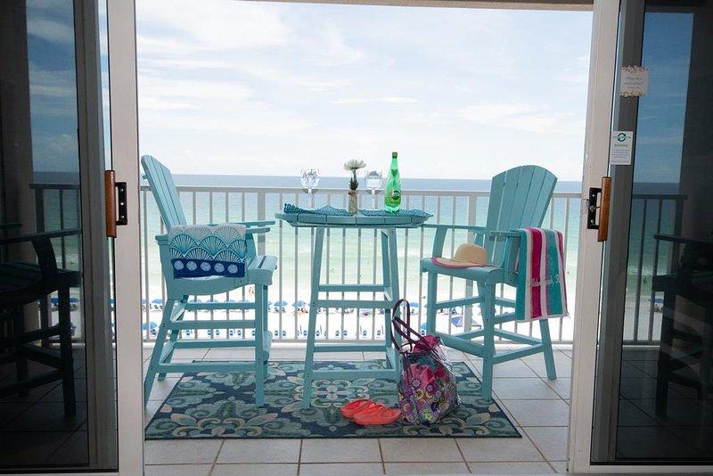 Balcón con vista al Golfo y la playa