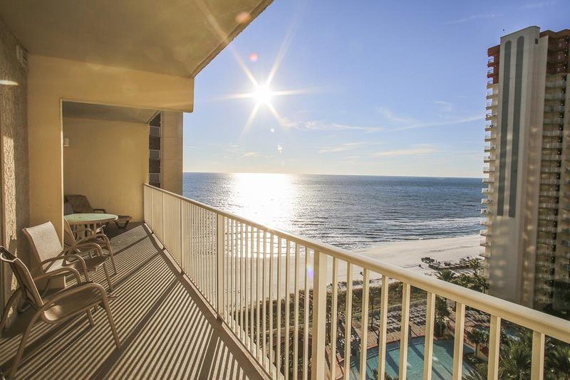 Shores of Panama rental 1223 - Balcony w/Gulf View