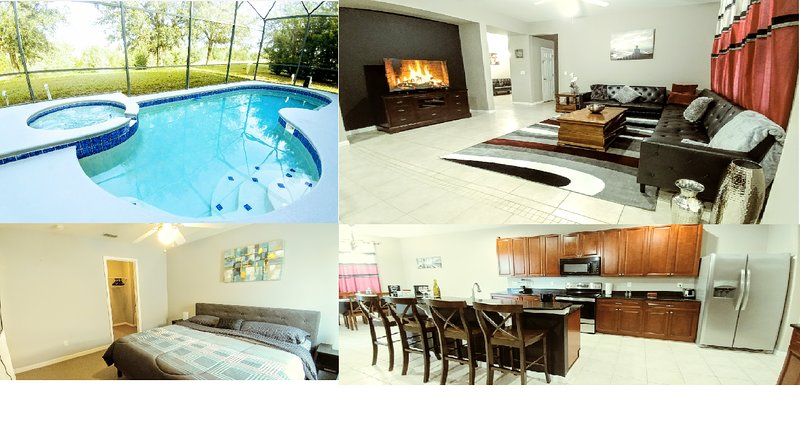 Beautiful updated villa with new furniture and appliances, Heated pool, spa and close to Disney