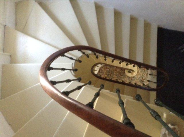 Escalera típica de la región.