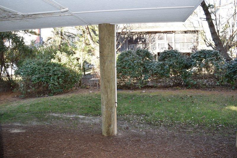Vista del patio trasero