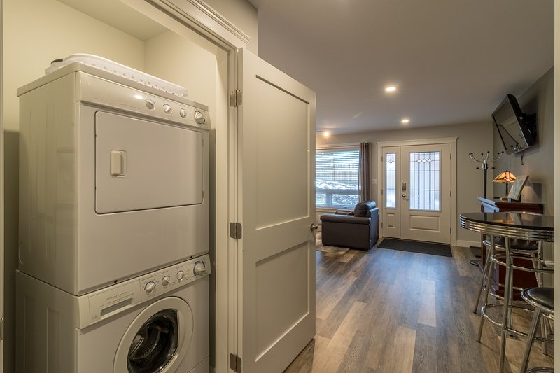 Washer and Dryer for your use in suite.