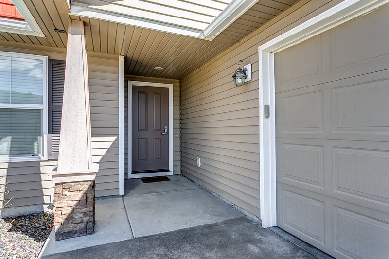 Private Entry with side-entry garage.
