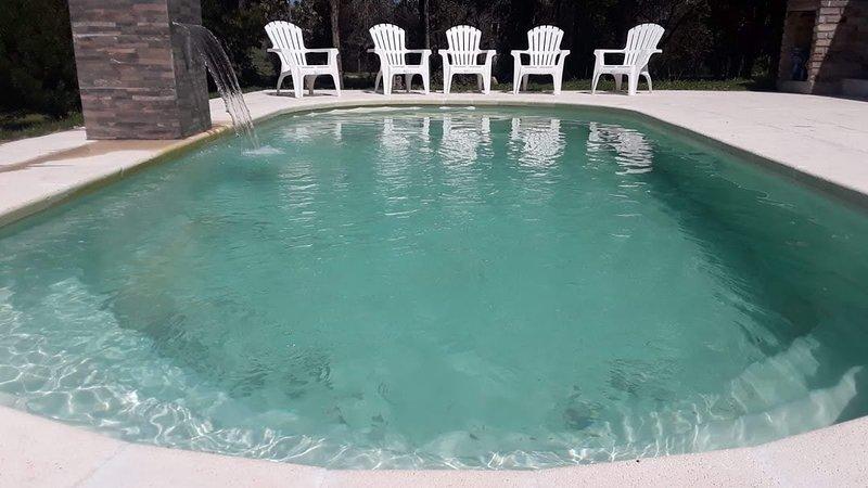 zwembad met zout water