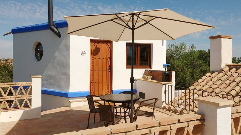 Rustic Loft 10 km. from Granada, with pool and barbecue. Enjoy natural outdoors!, holiday rental in Churriana de la Vega